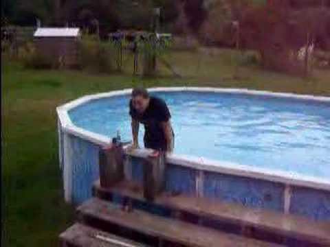 corissa falling into pool