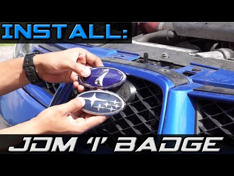 install: front jdm 'i' badge & rear stars badge on 2006
