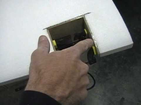 Installing retracts in a foam wing
