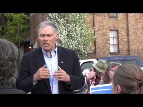 Governor Jay Inslee Speaks to Spokane Protesters