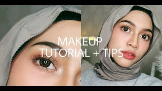 EASY NATURAL GLAM MAKEUP TUTORIAL +  MAKEUP TIPS | CAMILIANOH