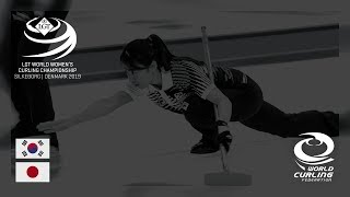 Korea v Japan round robin LGT World Women's Curling Championships 2019