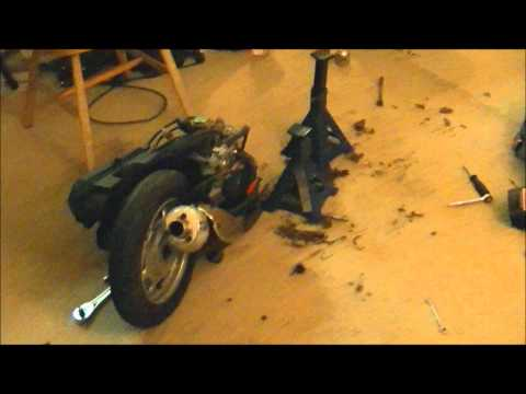 50cc scooter rebuild/upgrade project update 2