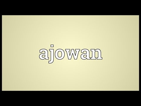 Header of Ajowan