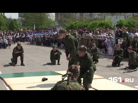 Parade of child troops in Russia.