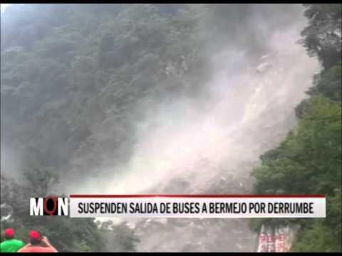 31-03-2015: 18:51-SUSPENDEN SALIDA DE BUSES A BERMEJO POR DERRUMBE POR TRES DÍAS