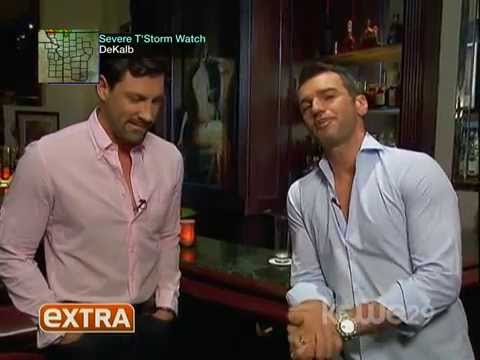Maksim Chmerkovskiy interviewed by Tony Dovolani for Extra TV, during Social Life photo shoot