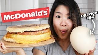 I Tried To Make A Giant Ostrich Egg McMuffin
