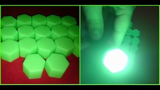 Unboxing & Review NEW Luminous Car Silicone Wheel Nuts Caps