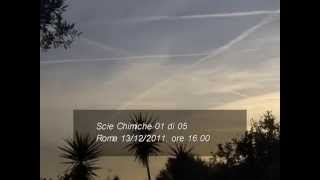 Scie chimiche Roma chemtrails, tutto in pochi minuti ... Incredibile!!! 01 di 05