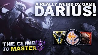 A REALLY WEIRD D2 GAME ON DARIUS! - Climb to Master S9   League of Legends
