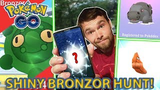 SHINY BRONZOR HUNT! NEW SHINY CAUGHT! MORE GEN 4 DEX ENTRIES!!! (Pokemon GO)