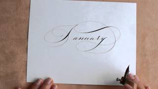 January Scetch. Nikolietta Calligraphy