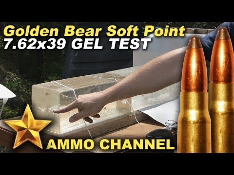 GEL TEST: 7.62x39 Golden Bear Soft Point expansion