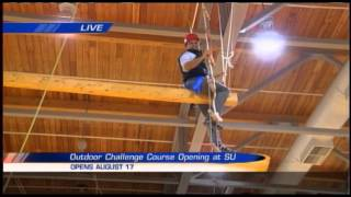 Brandon Roth live at the Flanagan Gym Indoor Challenge Course at SU
