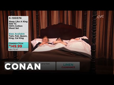 Larry King, Conan & Andy Share A Bed  - CONAN on TBS