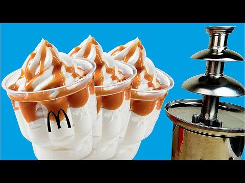 Шоколадный фонтан из карамельного мороженного из МакДональдс! alex boyko