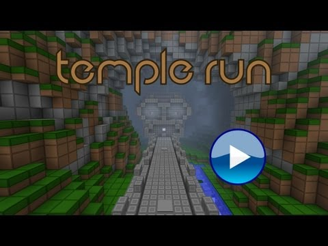 Minecraft: Temple Run (Interactive Redstone/Parkour game)(Minecraft 1.5.1)
