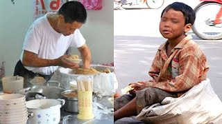 Chủ quán luôn bán chịu tiền cơm cho cậu bé nghèo, 10 năm sau vị khách đại gia đến và...
