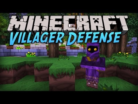 Minecraft Villager Defense [Part 1] - Save Them!