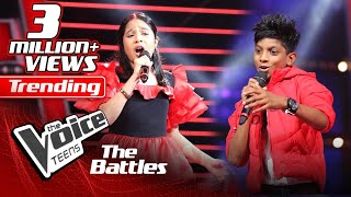 The Battles : Kyle Mario V Ishita Premnath | Un Poco Loco | The Voice Teen Sri Lanka