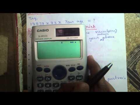 5 Magic Math Tricks On Casio fx-991ES Calculator!