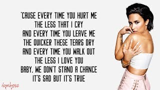 Demi Lovato - Too Good At Goodbyes (Lyrics) | Sam Smith cover