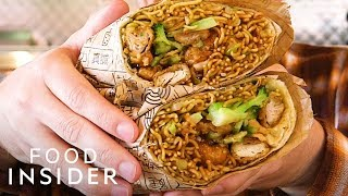 We Tried The Secret Orange Chicken Burrito From Panda Express