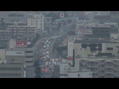 View of Central Yonago 米子市街地の風景(皆生→米子城跡)
