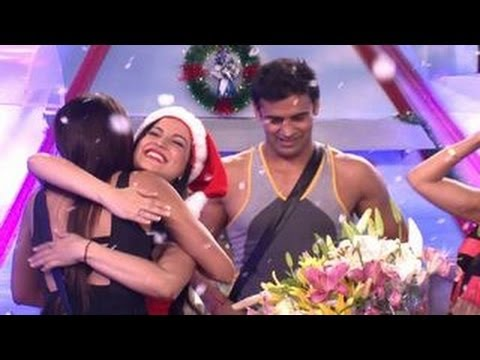 Elli Avram's SANTA SURPRISE in Bigg Boss 7 26th December 2013 EPISODE