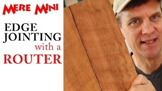 Squaring up board edges (edge jointing) with a router | Mere Mini
