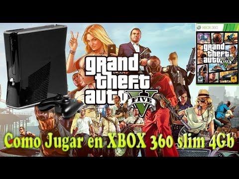 Como instalar y jugar a GTA V en Xbox360 Slim 4Gb / Install GTAV