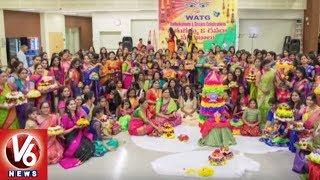 Telangana NRI's Celebrates Bathukamma Festival At Seattle City | USA