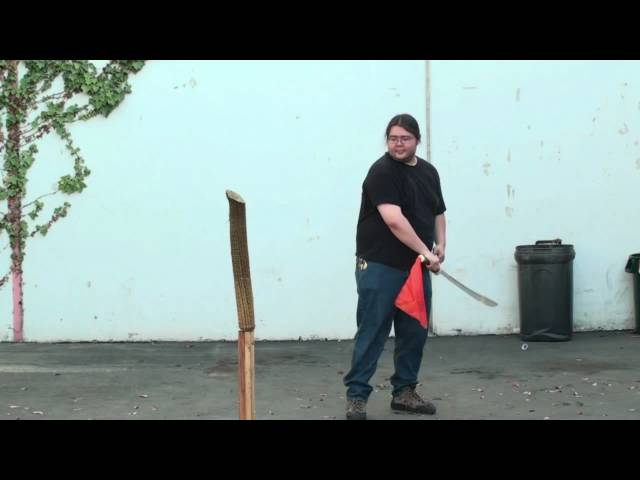 SwordnArmory Chinese Dao Sword Cutting Test