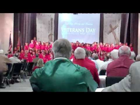 Vidalia Heritage Academy Singing on Veterans Day 2011