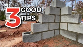 3 Great Tips for Block-work | Build A Foundation