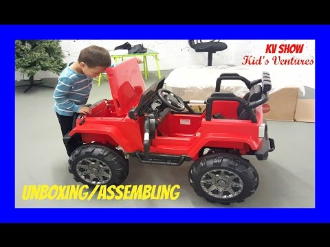 Picking Up The Toy Surprise! Unboxing/Assembling Power Wheel Ride On Jeep Wrangler w/ Remote Control