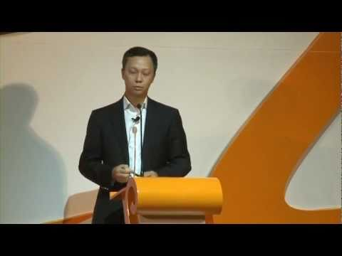 Alibaba com CEO Jonathan Lu at the company's annual general meeting 2011