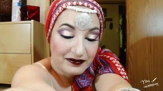 ARABIAN CLASSY SEX VIXEN CUT CREASE  - RED PURPLE