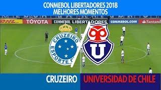 Melhores Momentos - Cruzeiro 7 x 0 Universidad de Chile - Libertadores - 26/04/2018