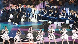171129 2017 MAMA in Japan SEVENTEEN&Wanna One&NU'EST W reaction to girls groups − I.O.I + AKB48