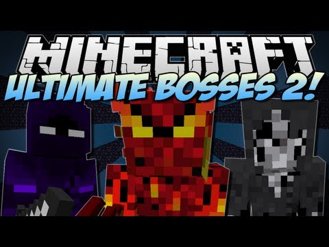 Minecraft ULTIMATE BOSSES 2 Bosscraft Mod Showcase 1.6.2