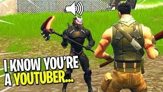 KID CAUGHT ME PRETENDING TO BE A FAKE NOOB ON FORTNITE! (He Tried To Help Me Win)