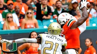 Miami's K.J. Osborn Scores in Two Plays for the Hurricanes