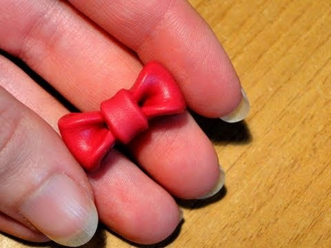 Tutorial 36 � fiocco in fimo e cernit - how to create a polymerclay bow