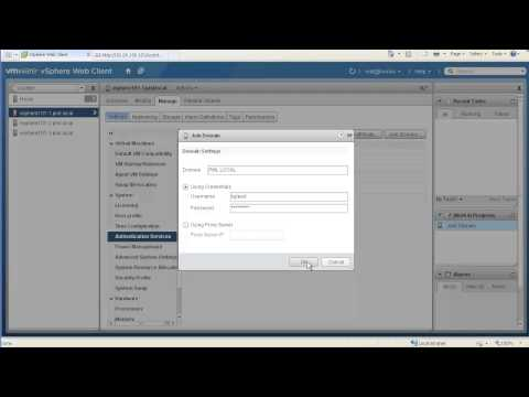 Add VMware vSphere Hosts to Active Directory