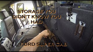 Easily Access Hidden Storage Behind the Rear Seat of a 2009 to 2014 Ford F150 Crew Cab