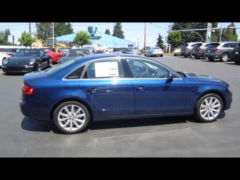 Audi a4 2013 Blue 2013 Audi a4 Scuba Blue