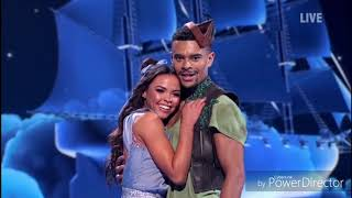 Wes Nelson and Vanessa Bauer skating in Dancing on Ice (Fairytales Week) (3/2/19)
