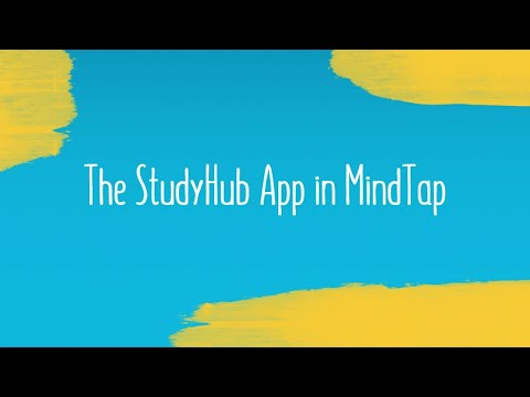 The StudyHub App in MindTap